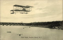 Biplane Over East Bank, Raritan River, New Jersey