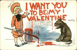 I Want You To Be My Valentine Postcard