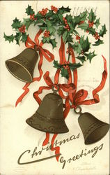 Christmas Greetings- Bells and Holly
