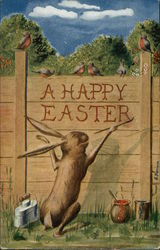 A Happy Easter - Bunny Painting