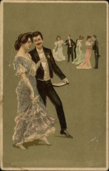 Several Couples Dance At The Ball