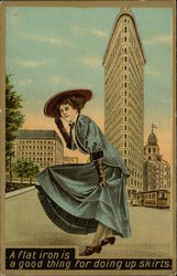 A Flat Iron is a Good Thing for Doing up Skirts Postcard