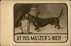 A Dachshund With His Nose In A Beer Stein