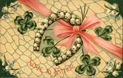 Love to Father - Horseshoe with Lily-of-theValley and Shamrocks