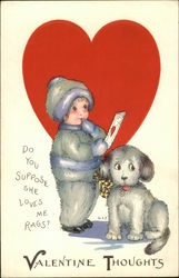 Child and Dog with Valentine