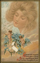 Cherubs with flowers Postcard