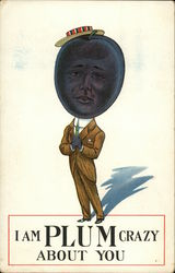 Suited Man with Plum Head
