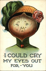 A Lady with an Onion Face, Crying