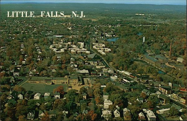 Aerial View of Little Falls New Jersey