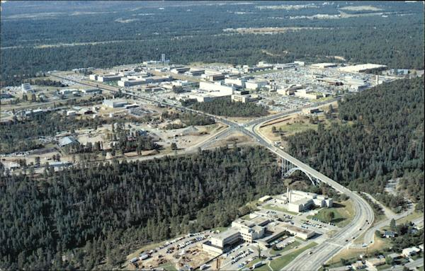 Aerial View of Administrative Complex of Los Alamos National Labs New Mexico