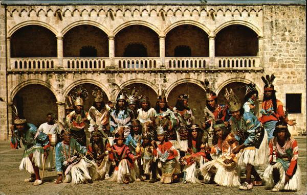 Indians at the Alcazor, Santo Domingo, Dominican Republic