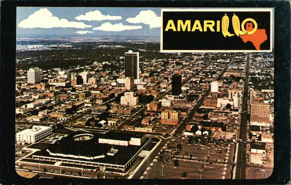 Aerial View of Downtown Amarillo Texas