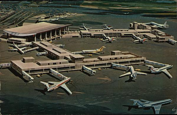 Boston's Logan International Airport-North and International Terminals Massachusetts