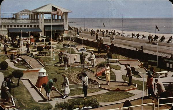 Miniature Golf on the Famous Boardwalk Asbury Park New Jersey