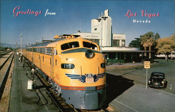 Greetings From Las Vegas, Union Pacific Steamliner Nevada