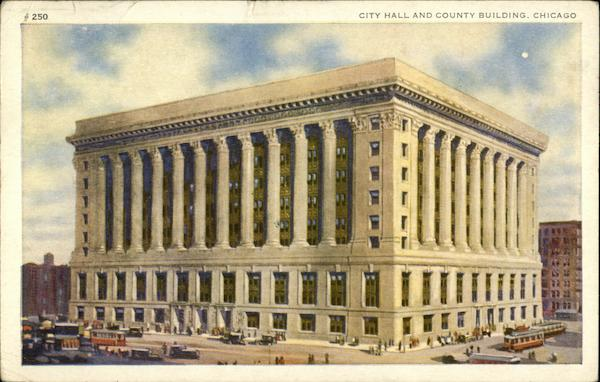 City Hall and County Building Chicago Illinois First Day Issue Cards
