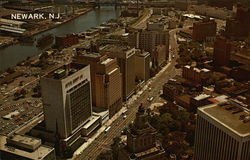 Aerial View of New Jersey's Largest City