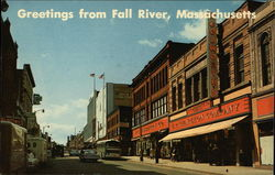 Greetings from Fall River, Massachusetts, Business District