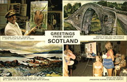 Greetings From Bonny Scotland Postcard