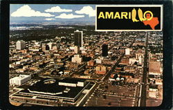 Aerial View of Downtown Amarillo