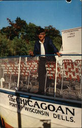 Capt. Herb Droste, Pilot of the Chicagoan on the Lower Dells of the Wisconsin River