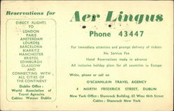 Aer Lingus Reservation Card