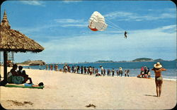 Las Gaviotas Beacha and Parachute Ride Postcard