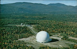 Earth Station at Andover, Maine Postcard