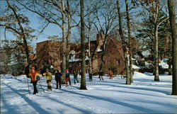 Avon Old Farms School - Diogenes Dormitory and Cross Country Skiers