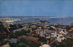 Looking Northeast Across the Roof Tops and Harbor from Cupola of Old South Tower