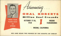 Announcing Oral Roberts Million Soul Crusade