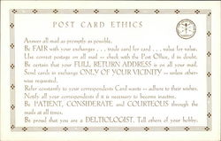 Post Card Collectors Club of America Code of Ethics