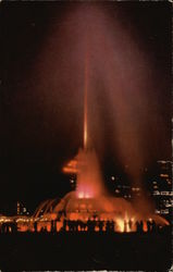 Night View of the Buckingham Fountain Postcard
