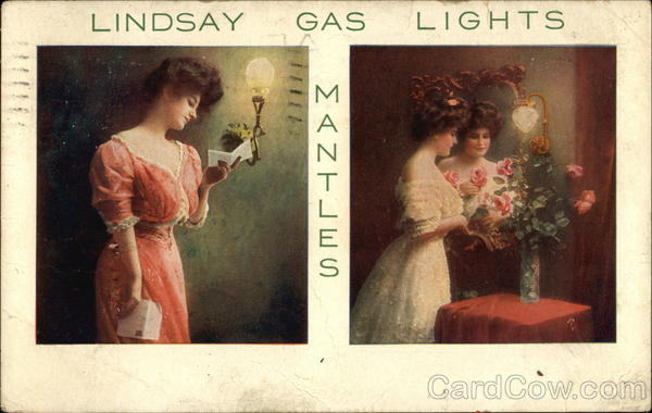 Lindsay Gas Lights and Mantles Advertising