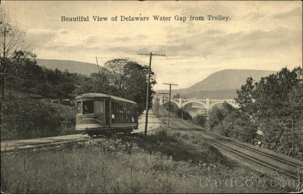 Beautiful View of Delaware Water Gap from Trolley Pennsylvania