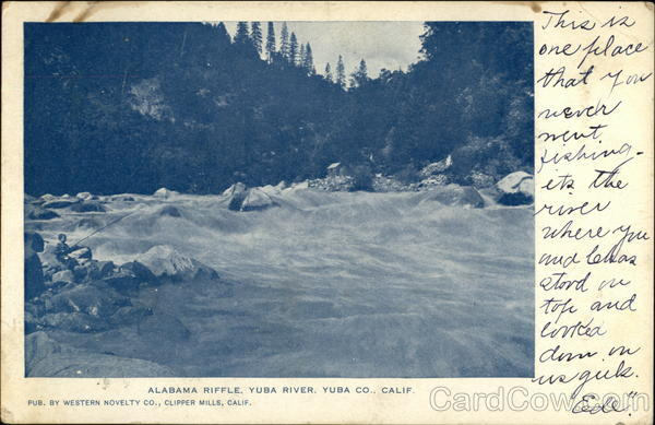 Alabama Riffle, Yuba River, Yuba Co., Calif California