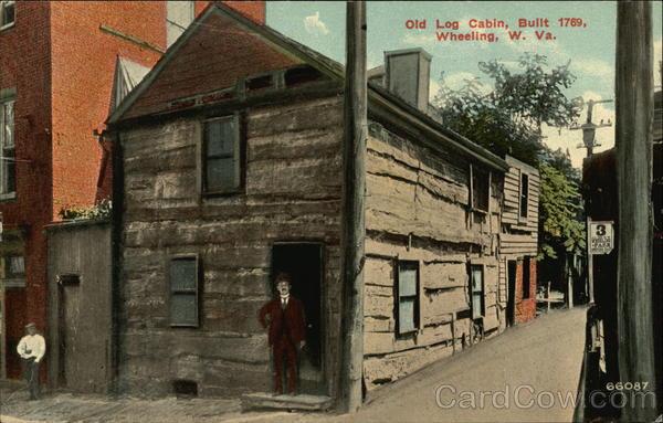 Old Log Cabin Built 1769 Wheeling Wv
