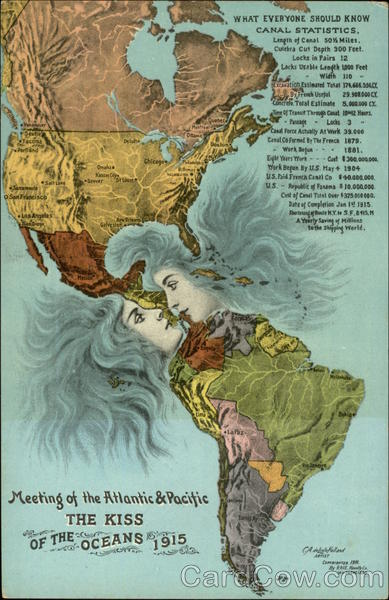 The Kiss - Meeting of the Atlantic & Pacific Maps