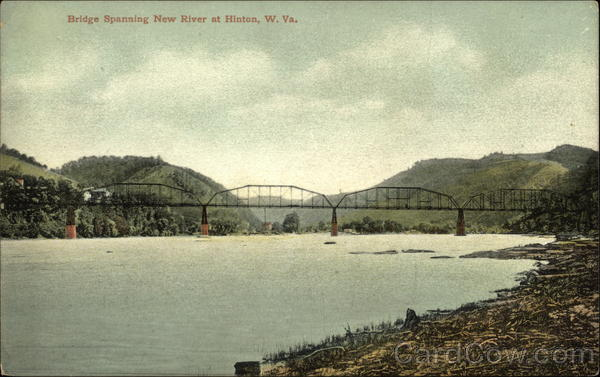 Bridge Spanning New River Hinton West Virginia