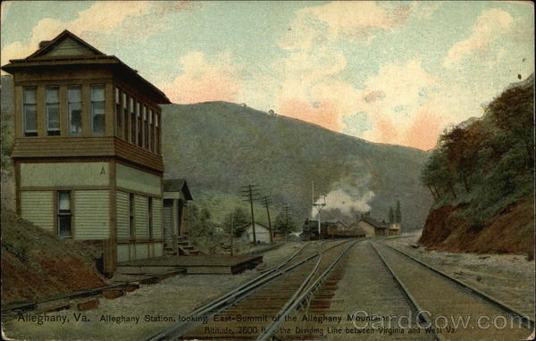 Alleghany Station Looking East Virginia