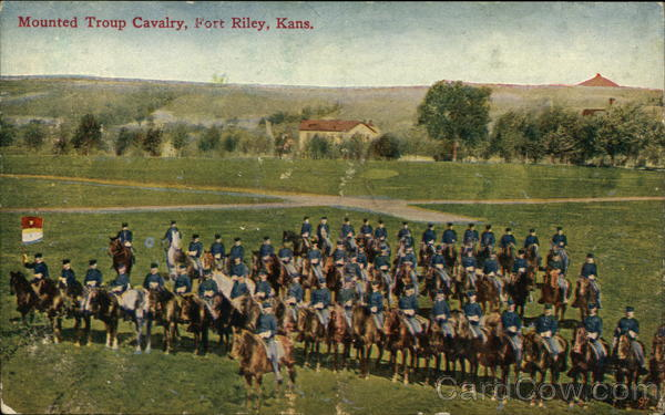 Mounted Troop Cavalry Fort Riley Kansas