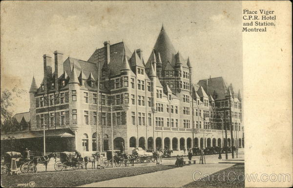 Place Viger C.P.R. Hotel and Station Montreal Canada