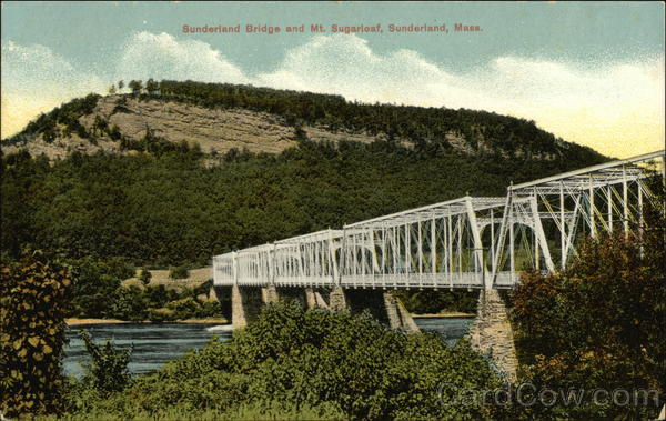 Sunderland Bridge and Mt. Sugarloaf Massachusetts