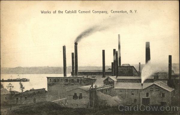 New York Cement Plants : Catskill cement company works cementon ny