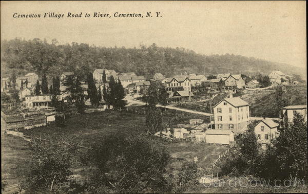Cementon Village Road to River New York