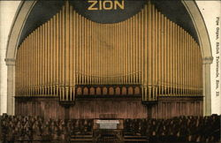 Pipe Organ, Shiloh Tabernacle Postcard