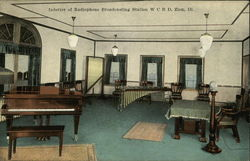 Interior of Radiophone Broadcasting Station W.C.B.D Postcard