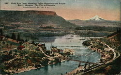 Gold Ray Dam showing Table Mountains and Rogue River
