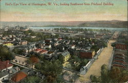 Bird's Eye View of Huntington, W. VA., Looking Southwest from Prichard Building