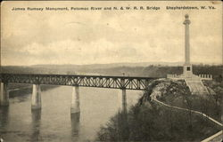 James Rumsey Monument, Potomac River and N. & W.R.R. Bridge